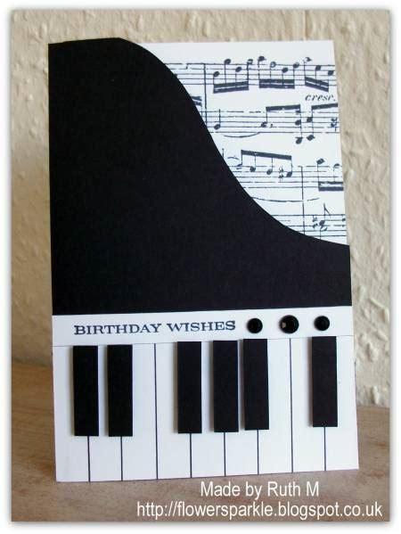 piano shaped birthday card  fubsyruth