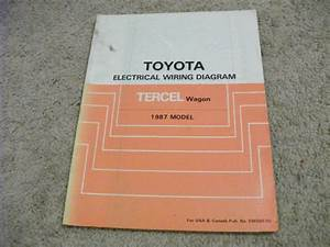 1987 Toyota Tercel Wagon Electric Wiring Diagrams Service