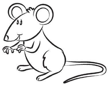 mouse clipart black  white   clip art