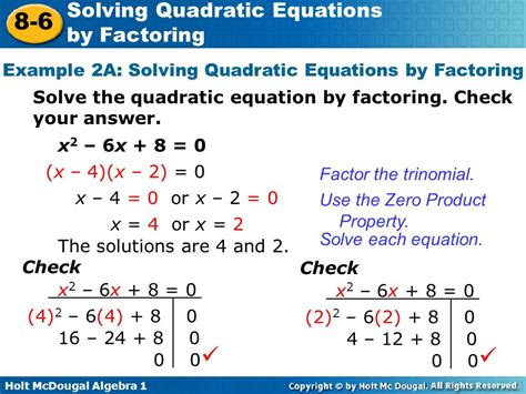 Objective Solve Quadratic Equations By Factoring  Ppt Video Online Download