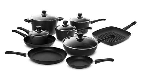 scanpan  stratanium nonstick classic cookware set  piece cutlery