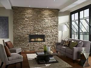 Wohnzimmer Einrichten Gemütlich : wohnzimmer einrichten natursteinwand im wohnzimmer beispiele und auch gem tlich themen ~ Indierocktalk.com Haus und Dekorationen