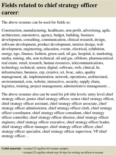 top  chief strategy officer resume samples