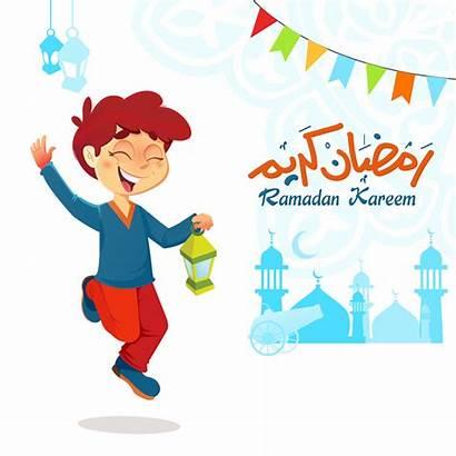 Ramadan Che Salta Kareem Clipart Jongen Celebrando