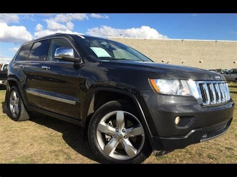 dark gray jeep grand cherokee pre owned dark grey 2011 jeep grand cherokee 4wd overland