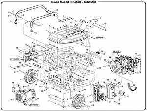 Homelite Bm905500 Generator Mfg  No  090930311 Parts