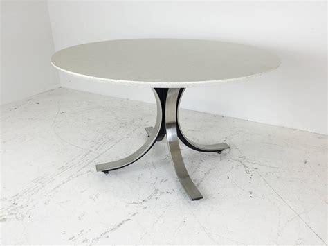 legged chrome base  dining table  white