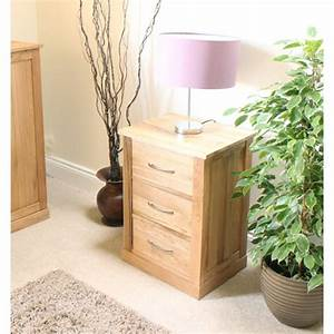 Mobel Oak Three Drawer Lamp Table Wooden Furniture Store
