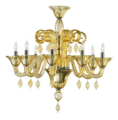 treviso 8 light murano glass chandelier ebay