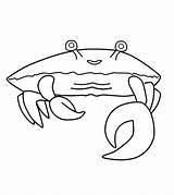 Crab Coloring Pages Printable Crabs Walking Worksheets Happy 99worksheets sketch template