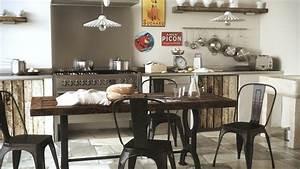 Decoration Industrielle Vintage : d co cuisine esprit bistrot ~ Teatrodelosmanantiales.com Idées de Décoration