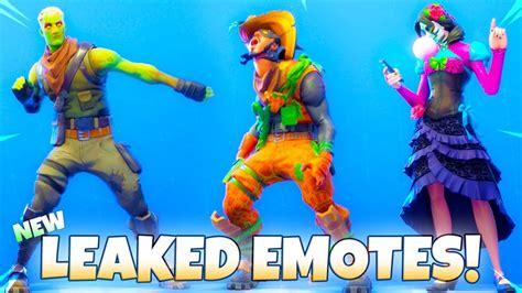leaked fortnite emotes skins showcase zombie