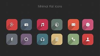 Icon Flat Android Minimal Pack Icons Wallpapers
