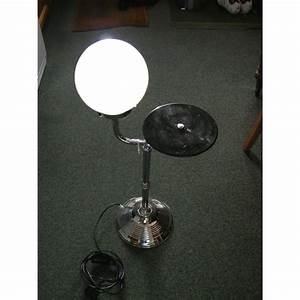 Art deco ceiling lights nz : Pair of exceedingly rare art deco lamp tables in chrome