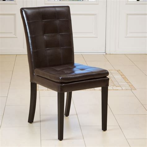 barrington brown leather dining chairs set of 2 great