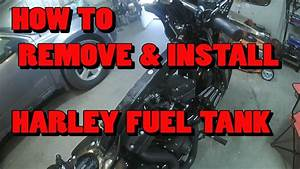 How To Remove  U0026 Install Harley Davidson Fuel Tank  Video