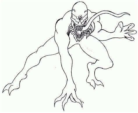 Printable Venom Coloring Pages