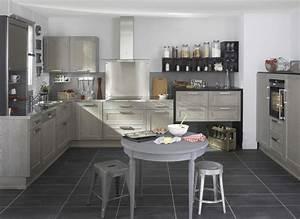 Cuisine Bois Clair : cuisine bois gris moderne le bois chez vous ~ Melissatoandfro.com Idées de Décoration