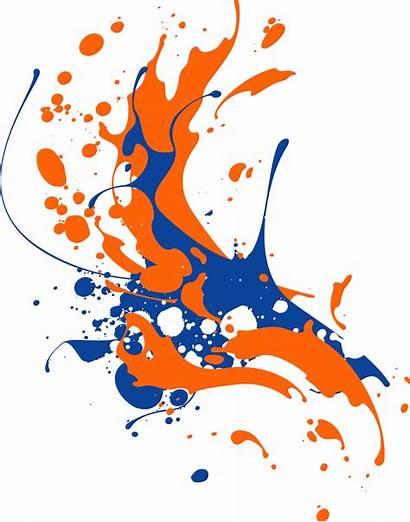 Ink Splash Paint Orange Splatter Domain Needpix