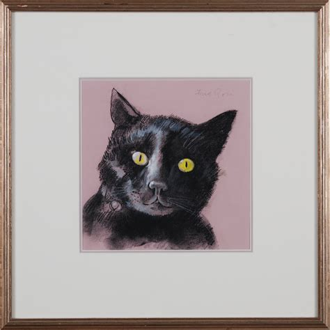 Fred Ross  Black Cat  Art Collection For Sale — Original