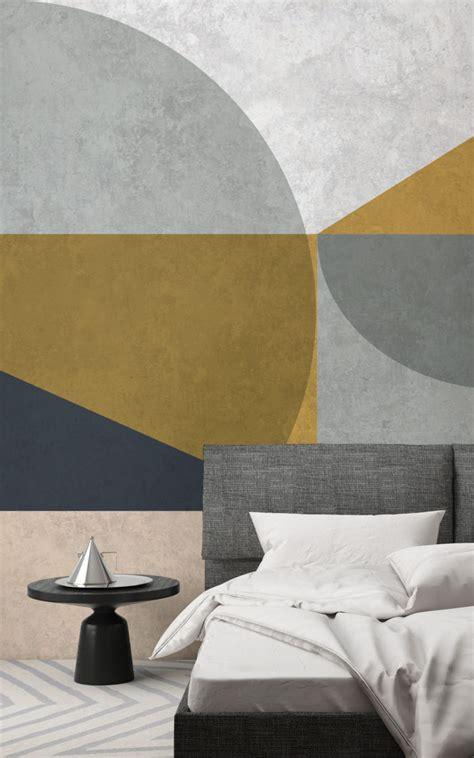 brilliant bedroom ideas  geometric wallpaper murals