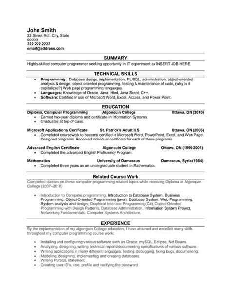 Programmers Resume by Computer Programmer Resume Template Premium Resume