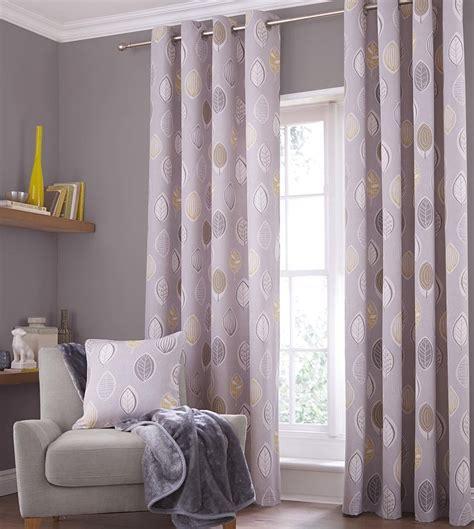 skandi leaves eyelet ring top curtains and or cushion