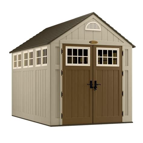 outdoor sheds home depot suncast molded storage shed 7 ft x 10 ft the