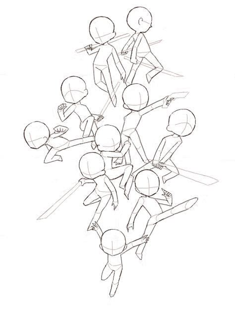 drawing poses group  ideas  images anime poses