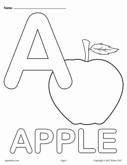 Coloring Letter Alphabet Printable Sheets Letters Lowercase