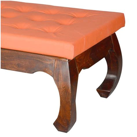 Leather Upholstered Coffee Table by Sante Fe Leather Upholstered Solid Wood Opium Coffee Table