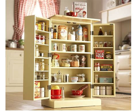Free Standing Pantry Cabinet by Freestanding Larder Wooden Cupboard Buttermilk Kitchen