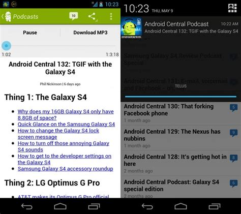 android central app walking through the new and improved android central app
