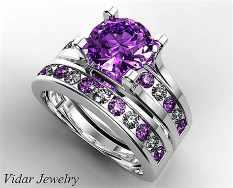 amethyst bridal ring vidar jewelry unique custom