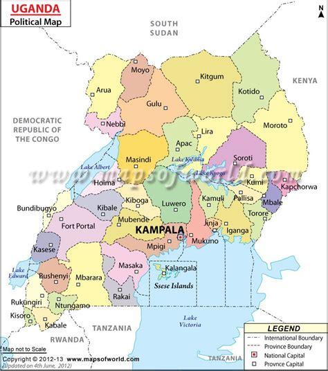 uganda political  national boundaries hiwdlaurenm