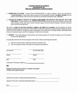 General Liability Release Form Free Liability Release