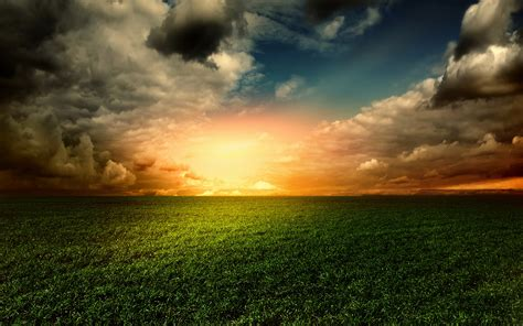 wallpaper landscape sunset clouds  nature
