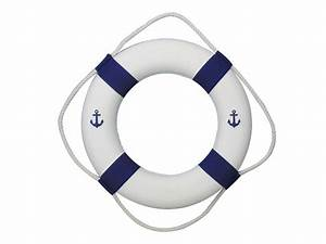 Buy Classic White Decorative Anchor Lifering with Blue