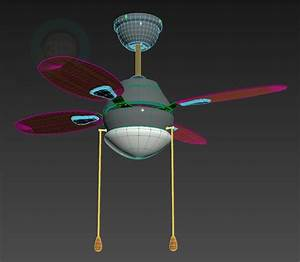D model ceiling fan with light fitting download for free