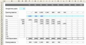 download monthly depreciation schedule excel template With straight line depreciation template