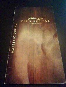 menu - Picture of Tipu Sultan MaJestic Dining, Moseley ...