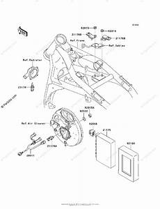 Kawasaki Motorcycle 2002 Oem Parts Diagram For Fuel