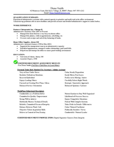Resume For Chiropractic Assistant by Chiropractic Resume Exle Resumes Sle Resume