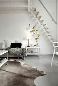 Skandinavisch Einrichten Wohnzimmer : 1000 ideen zu kuhfell teppich auf pinterest kuhfell eichen hochzeit und esszimmer ~ Sanjose-hotels-ca.com Haus und Dekorationen