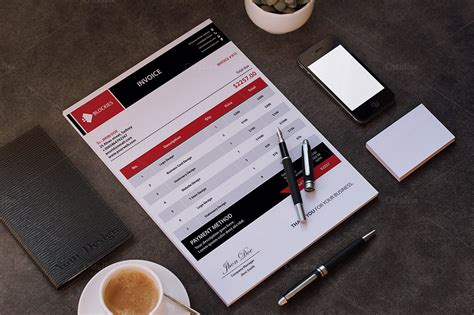 simple clean invoice stationery templates