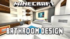 minecraft bathroom designs minecraft tutorial how to make a modern bathroom design modern house build ep 16
