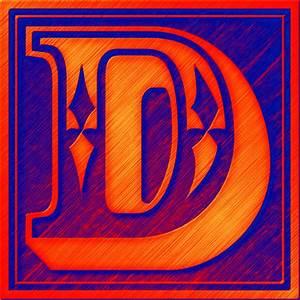Presentation Alphabets: Drop Caps Letter D - Style 072