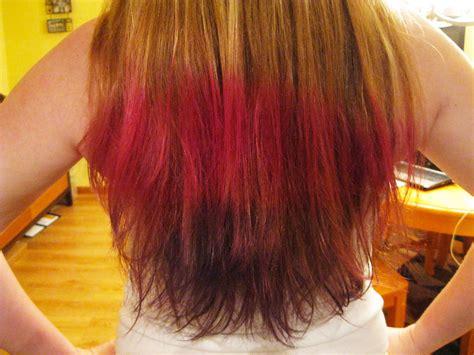 Dip Dyed My Hair Pink Light Purple And Dark Purple