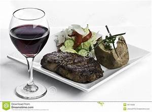 Steak Dinner And Red Wine Royalty Free Stock Photos ...