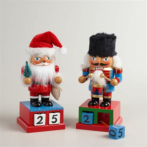 christmas countdown nutcrackers set of 2 world market